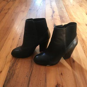 Black Aldo Heeled Ankle Boots